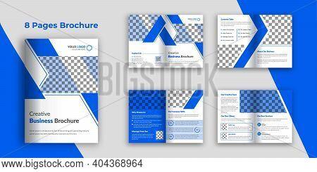 Business Brochure Template, 8 Page Bi-fold Brochure Design