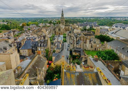 View Of The Old City Of Dinan, In Brittany, France