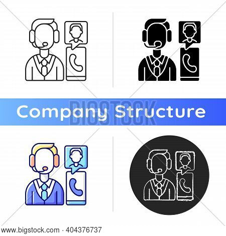 Customer Service Department Icon. Support Professionals. Providing Speedy, Effective Resolutions. Co