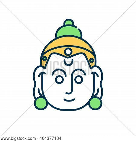 Rama Navami Rgb Color Icon. God In Hinduism. Sacred Tradition. Lord, Spirituality. Spring Hindu Fest