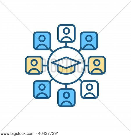 College Campus Rgb Color Icon. University Life. Tutoring For Student. Learning Classes. Management A