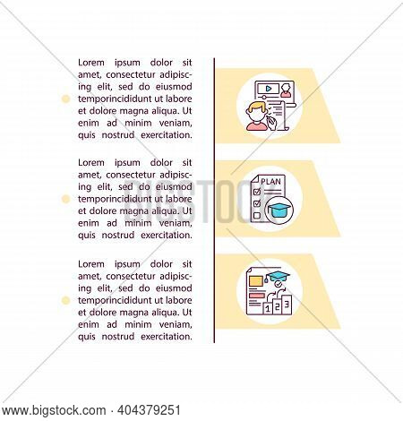Up-to-date Curriculum Concept Icon With Text. Lessons And Academic Content. Materials And Assignment