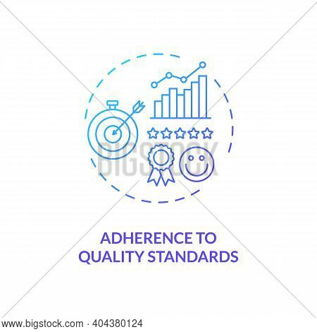 Adherence To Quality Standards Concept Icon. Staff Training Idea Thin Line Illustration. Making Impr