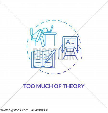 Too Much Theory Concept Icon. Staff Training Disadvantage Idea Thin Line Illustration. Overtraining
