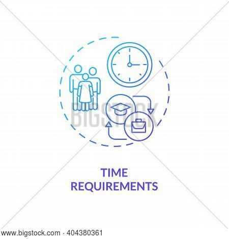 Time Requirements Concept Icon. Staff Training Disadvantage Idea Thin Line Illustration. Normal Work