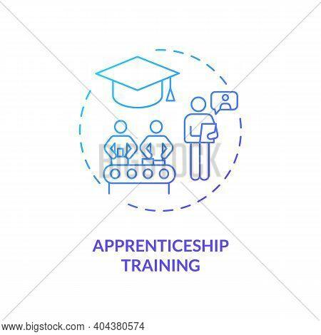 Apprenticeship Training Concept Icon. Staff Development Idea Thin Line Illustration. Gaining Skills,