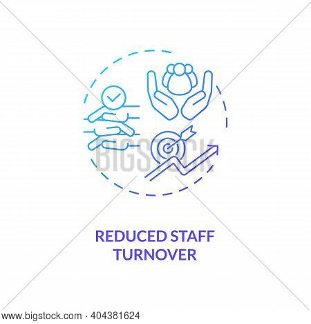 Reduced Staff Turnover Concept Icon. Staff Training Idea Thin Line Illustration. Competitive Salarie