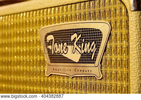 Paris - France -december 1, 2020 : Tone King Electric Guitar Amplifier Close-up View