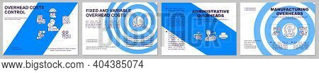 Overhead Costs Control Brochure Template. Administrative Overheads. Flyer, Booklet, Leaflet Print, C