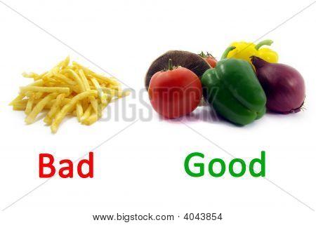 Good Healthy Food, Bad Unhealthy Food Colors 2