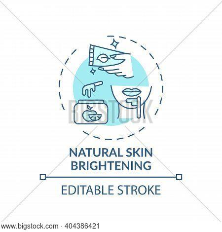 Natural Skin Brightening Concept Icon. Home Spa Idea Thin Line Illustration. Reducing Dark Spots, Fr