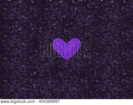K-pop Purple Heart,violet Color Symbol Of Korean Bts Army Love In Middle Of Rectangle Dark With Ligh