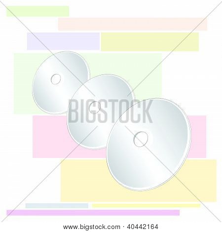 Vector Compact Disc of Three CD or DVD