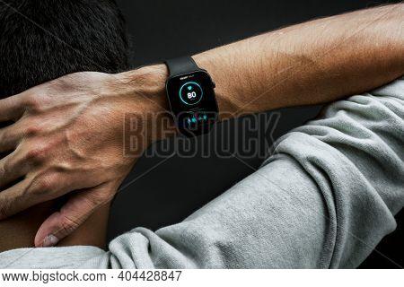 Fitness tracker sport bracelet smartwatch technology