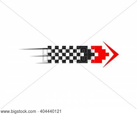 Faster Speed Logo Icon Of Automotive Racing Concept