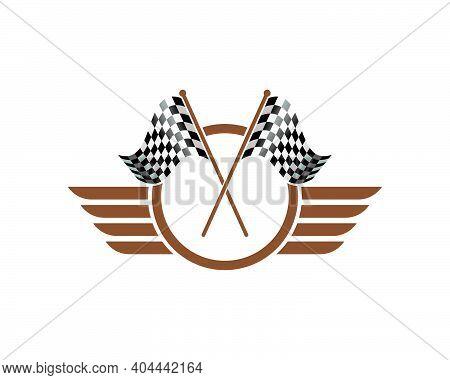 Racing Flag Icon Of Automotif Illustration Vector