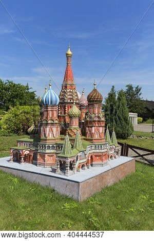 Inwald,  Poland - August 12, 2018 : Miniature Park