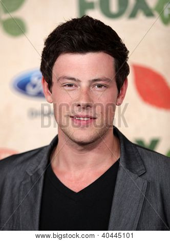 LOS ANGELES - AUG 12:  Cory Monteith arriving to FOX Fall Eco-Casino Party 2011  on August 12, 2011 in Culver City, CA