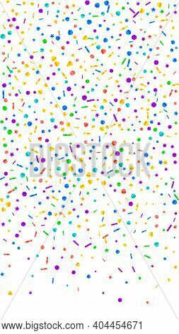 Festive Likable Confetti. Celebration Stars. Festive Confetti On White Background. Grand Festive Ove