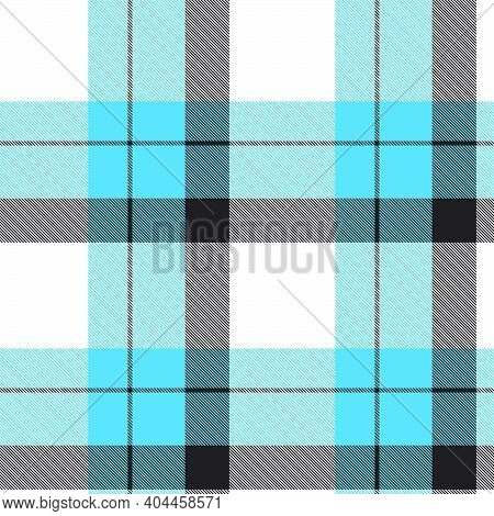 Blue Ombre Plaid Textured Seamless Pattern