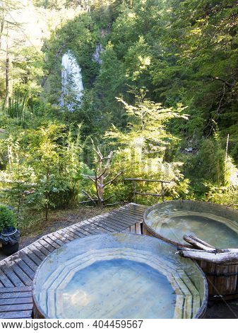Natural And Volcanic Hot Springs, In Conaripe, Panguipulli, In The Middle Of The Villarica National