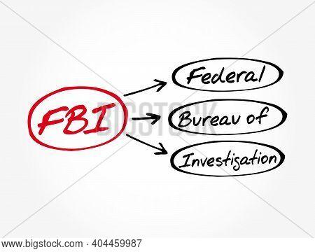 Fbi - Federal Bureau Of Investigation Acronym, Concept Background