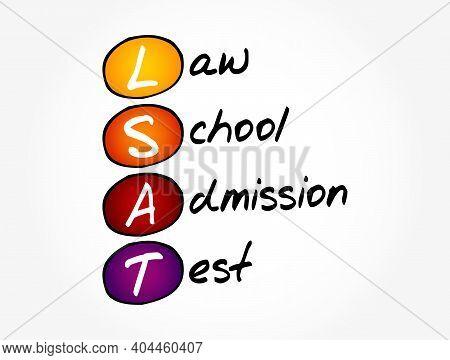 Lsat - Law School Admission Test Acronym, Education Concept Background