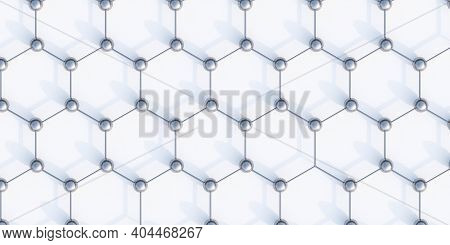 Metallic Net Honey Comb Structure Network, Networking, Connectivity, Internet Communication Abstract