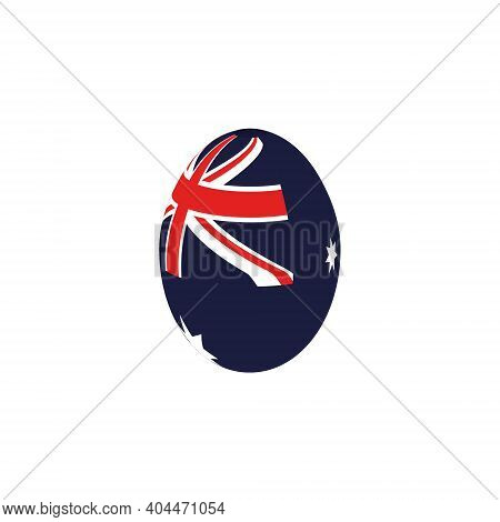 Easter Egg In The Colors Of The Flag Of Australia.