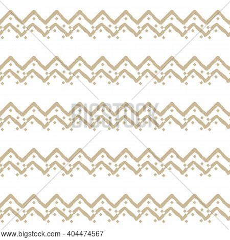 Beige Simple Horizontal Seamless Repeat Border Pattern With Random Jagged Color Filled, Empty Square