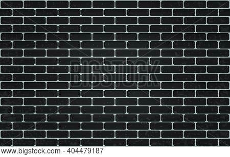Black Brick Wall. Clean Brickwork. Brick Background