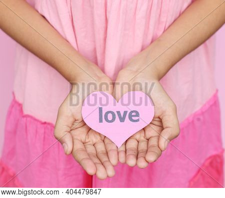 Young Hands With Heart Tag Of Love Give Love To Another