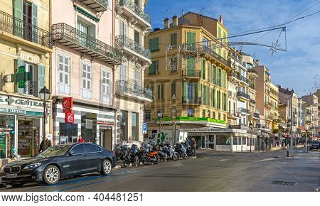 Cannes, France - February 1, 2016: Famous Sea Food Restaurant Astoux And Brun In Cannes, France.