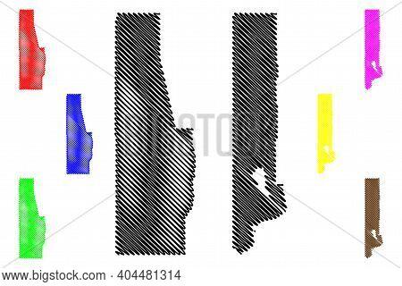Washoe And Eureka County, Nevada (u.s. County, United States Of America, Usa, U.s., Us) Map Vector I