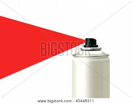 Aerosol spray cans isolated against a white background poster
