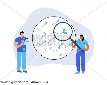 Sperm Morphology, Ivf Research. Normal, Abnormal And Defective Human Egg. Doctor In Laboratory. Sper