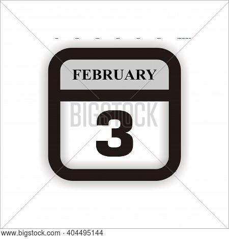 Calendar Icon 3 Isolated On White Background, Calendar Icon Vector Flat Modern, Calendar Icon, Calen