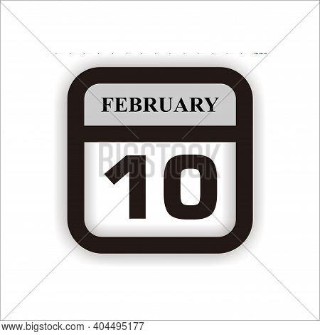 Calendar Icon 10 Isolated On White Background, Calendar Icon Vector Flat Modern, Calendar Icon, Cale