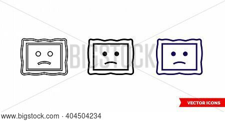 Image Not Available Filled Icon Of 3 Types Color, Black And White, Outline. Isolated Vector Sign Sym