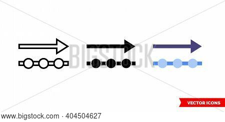 Outgoing Data Icon Of 3 Types Color, Black And White, Outline. Isolated Vector Sign Symbol.
