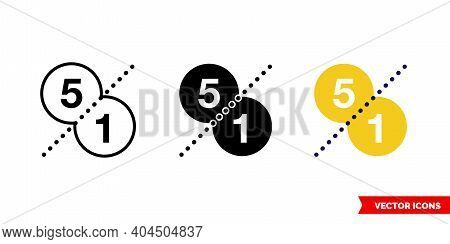 Price Comparison Icon Of 3 Types Color, Black And White, Outline. Isolated Vector Sign Symbol.