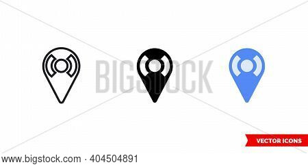 Region Icon Of 3 Types Color, Black And White, Outline. Isolated Vector Sign Symbol.