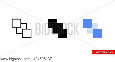 Send To Back Icon Of 3 Types Color, Black And White, Outline. Isolated Vector Sign Symbol.