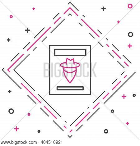 Line Wanted Western Poster Icon Isolated On White Background. Reward Money. Dead Or Alive Crime Outl