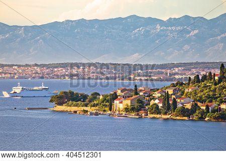 Zadar Archipelago. Small Island Of Osljak And City Of Zadar View, Archipelago In Northern Dalmatia R