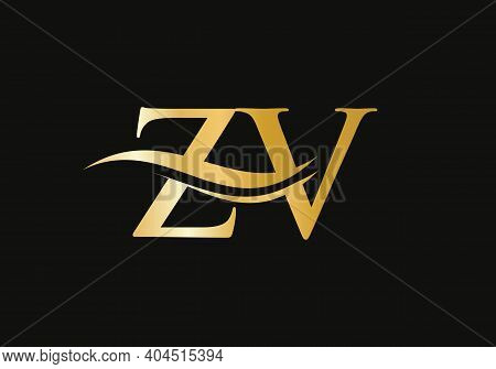 Initial Letter Zv Linked Logo For Business And Company Identity. Modern Letter Zv Logo Vector Templa