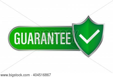 Guarantee Stamp For Promo Design. Vintage Icon With Green Guarantee Stamp On White Background For Ba
