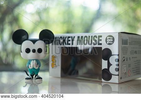 Bangkok, Thailand - January 22, 2021 : Mickey Go Thailand, Pop That Blends Mickey Mouse, A World's F