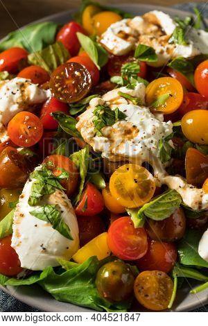 Homemade Healthy Burrata Cheese Tomato Salad