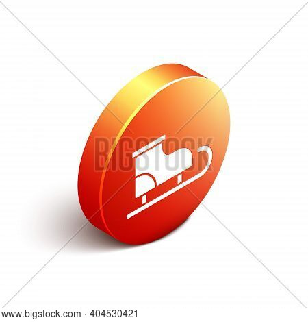 Isometric Figure Skates Icon Isolated On White Background. Ice Skate Shoes Icon. Sport Boots With Bl
